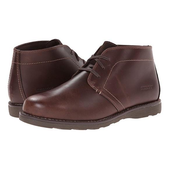NIB Sebago Men s Brown Leather Reese Chukka Boots 0eff2c5df